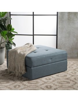 Burlington Square Fabric Storage Ottoman Bench By Christopher Knight Home by Christopher Knight Home