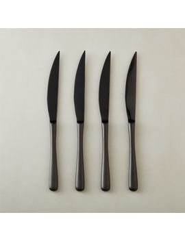 Sizzle Black Steak Knives Set Of 4 by Crate&Barrel