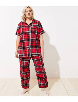 Loft Plus Plaid Pajama Set by Loft