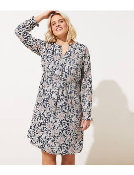 Loft Plus Vine Ruffle Shirtdress by Loft