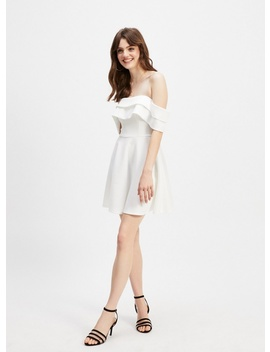 Ivory Bardot Scuba Mini Dress by Miss Selfridge
