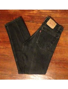 Vtg 80s 90s Levi's 505 Jeans 32x32 Black Denim Regular Fit Straight Made In Usa by Levi's