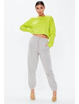 Lime Cropped Sweatshirt by Missguided