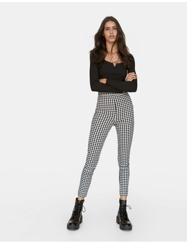 Checked Smart Trousers by Stradivarius