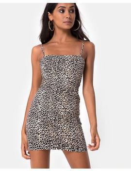 Selah Bodycon Dress In Rar Leopard Brown By Motel by Motel