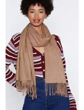 Fringe In High Places Wool Scarf by Nasty Gal