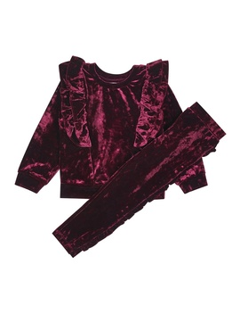 **Girls Red Velvet Tracksuit Set (18 Months   6 Years) by Dorothy Perkins