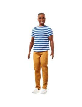Barbie Fashionistas Ken Doll Wearing Striped Top & Khaki Pants by Barbie