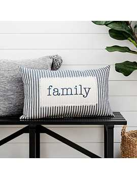 Family Ticking Stripe Accent Pillow by Kirkland's