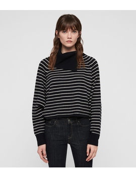 Maddie Cropped Roll Neck Jumper by Allsaints