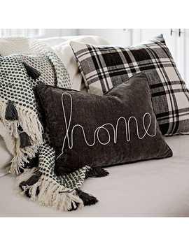 Gray Home Rope Velvet Accent Pillow by Kirkland's