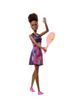 Barbie Tennis Player Doll With Brunette Hair, Tennis Racket & Ball by Barbie