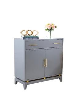 Capri Lacquer Two Door Cabinet Powder Blue   Abbyson Living by Abbyson Living