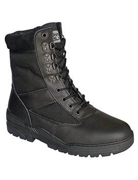 Savage Island Combat Boots Black Leather Patrol by Savage Island