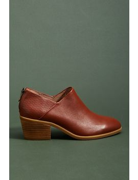 Anthropologie Bekah Leather Ankle Boots by Anthropologie