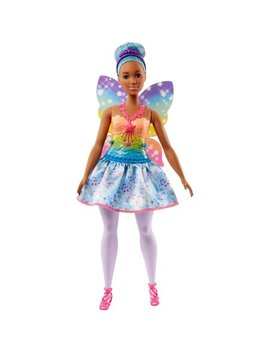 Barbie Dreamtopia Fairy Doll With Blue Hair & Rainbow Wings by Barbie