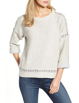 Contrast Stitch Sweater by Lucky Brand
