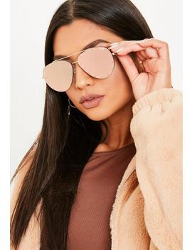 Quay Australia X Jaclyn Hill Roxanne Pink Gold Sunglasses by Missguided