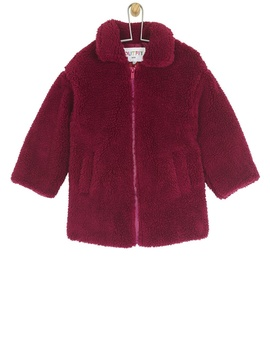 **Girls Red Teddy Fleece Coat (18 Months   6 Years) by Dorothy Perkins