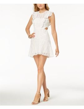 Bardot Kira Cutout Ruffled Fit & Flare Dress Ivory Size S $129 by Bardot
