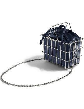 Mona Velvet Basket Bag by Topshop