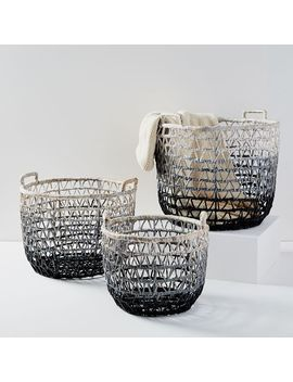 Ombre Triangle Weave Baskets by West Elm