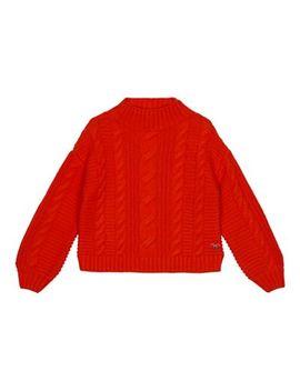 J By Jasper Conran   Girls' Bright Orange Cable Knit Jumper by J By Jasper Conran