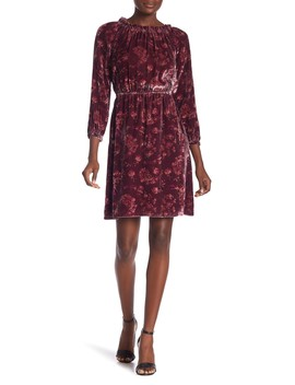 Long Sleeve Velvet Dress by Rebecca Taylor