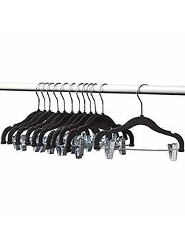 Home It Baby Hangers With Clips Black Baby Clothes Hangers Velvet Hangers Use For Skirt Hangers Clothes Hanger Pants Hangers Ultra Thin No Slip Kids Hangers By Home It by Home It