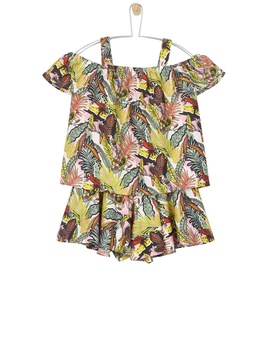 **Girls Jungle Printed Top And Shorts Set (5   12 Years) by Dorothy Perkins