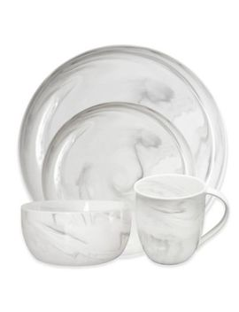 Artisanal Kitchen Supply® Coupe Marbleized Dinnerware Collection In Grey by Bed Bath And Beyond