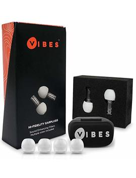 Vibes High Fidelity Concert Earplugs   Hearing Protection Ear Plugs Noise Reduction For Concerts, Fitness Classes, Motorcycle, Sensory Disorders (Tinnitus Relief & Autism)   As Seen On Shark Tank by Vibes