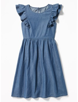 Ruffle Trim Midi Dress For Girls by Old Navy