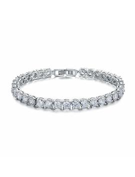 Ashmita Tennis Crystal Bracelet For Women Charm Men Rose Gold Zirconia Bracelets Gift Jewelry by Ashmita