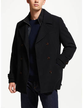 John Lewis & Partners 2 In 1 Pea Coat, Navy by John Lewis & Partners