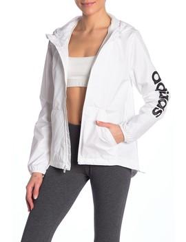 Solid Logo Hooded Windbreaker by Adidas