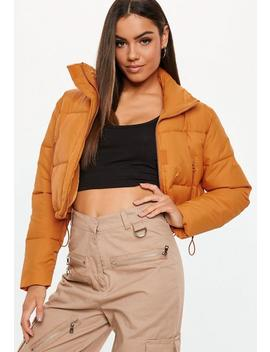 Orange Crop Oversized Puffer Jacket by Missguided