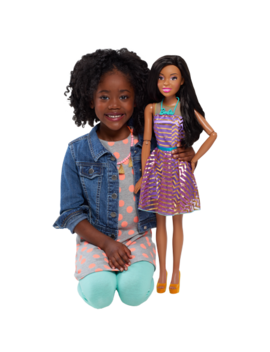 "Barbie 28"" Best Fashion Friend Doll   Black Hair by Barbie"
