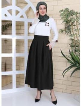 Black   Skirt by Modanisa