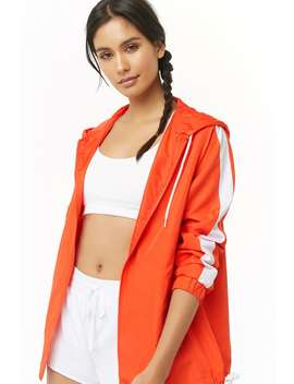 Active Contrast Striped Windbreaker by Forever 21