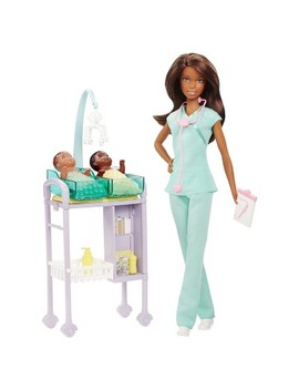 Barbie Careers Baby Doctor African American Doll And Playset by Mattel
