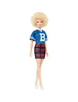 Barbie Fashionistas Doll 91   Curly Hair With Team Jersey by Barbie