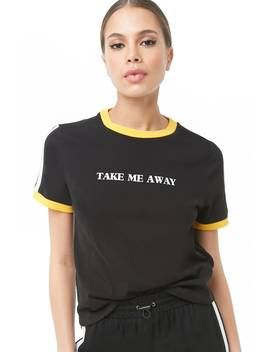 Take Me Away Graphic Ringer Tee by Forever 21