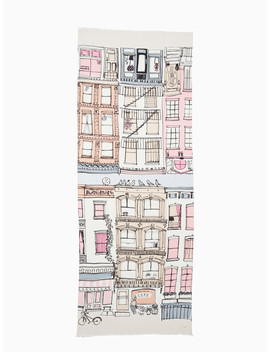 Brooklyn Scene Oblong Scarf by Kate Spade