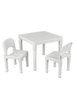 Liberty House Kids Table And 2 Chairs   White by Argos