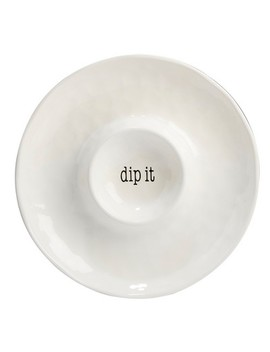 "Certified International It's Just Words Ceramic Chip And Dip Bowl 13.8""   White by Shop This Collection"