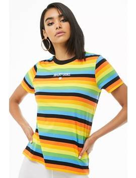 Multistriped Babygirl Tee by Forever 21