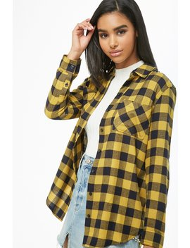 Checkered Pocket Shirt by Forever 21