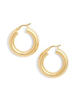 Mini Tube Hoop Earrings by Argento Vivo