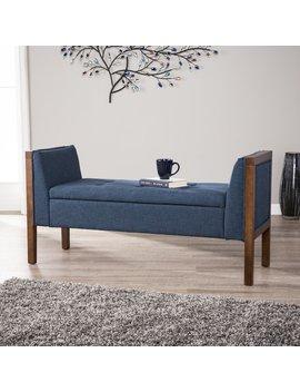 Charlton Home Kegler Storage Upholstered Bench & Reviews by Charlton Home